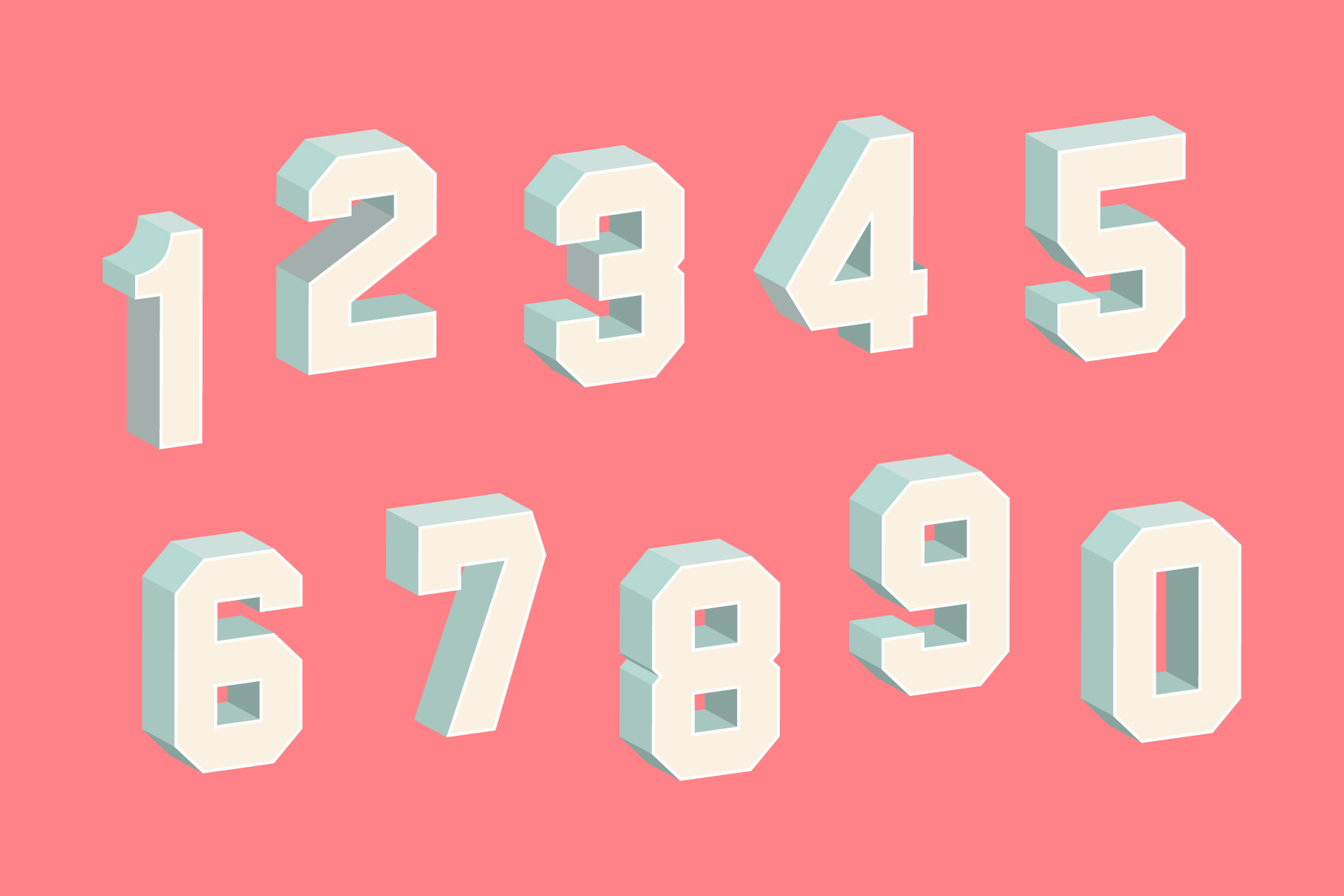 3D Block Letters & Numbers – Krafti Lab