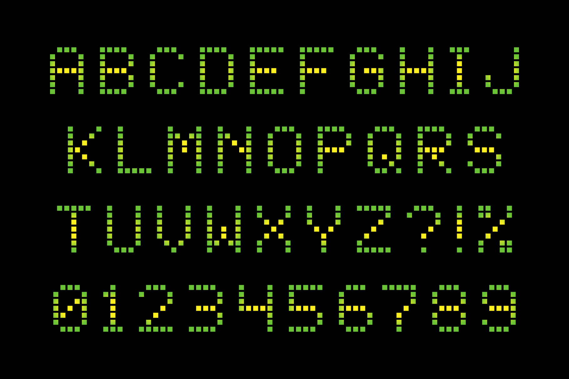 Square Dot-Matrix Display Font – Krafti Lab