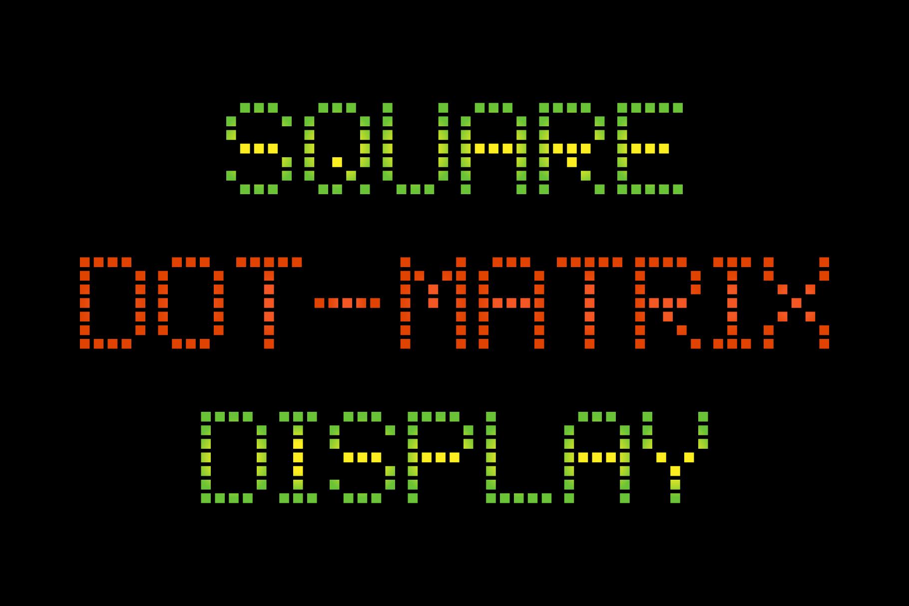 Square Dot-Matrix Display Font – Krafti Lab