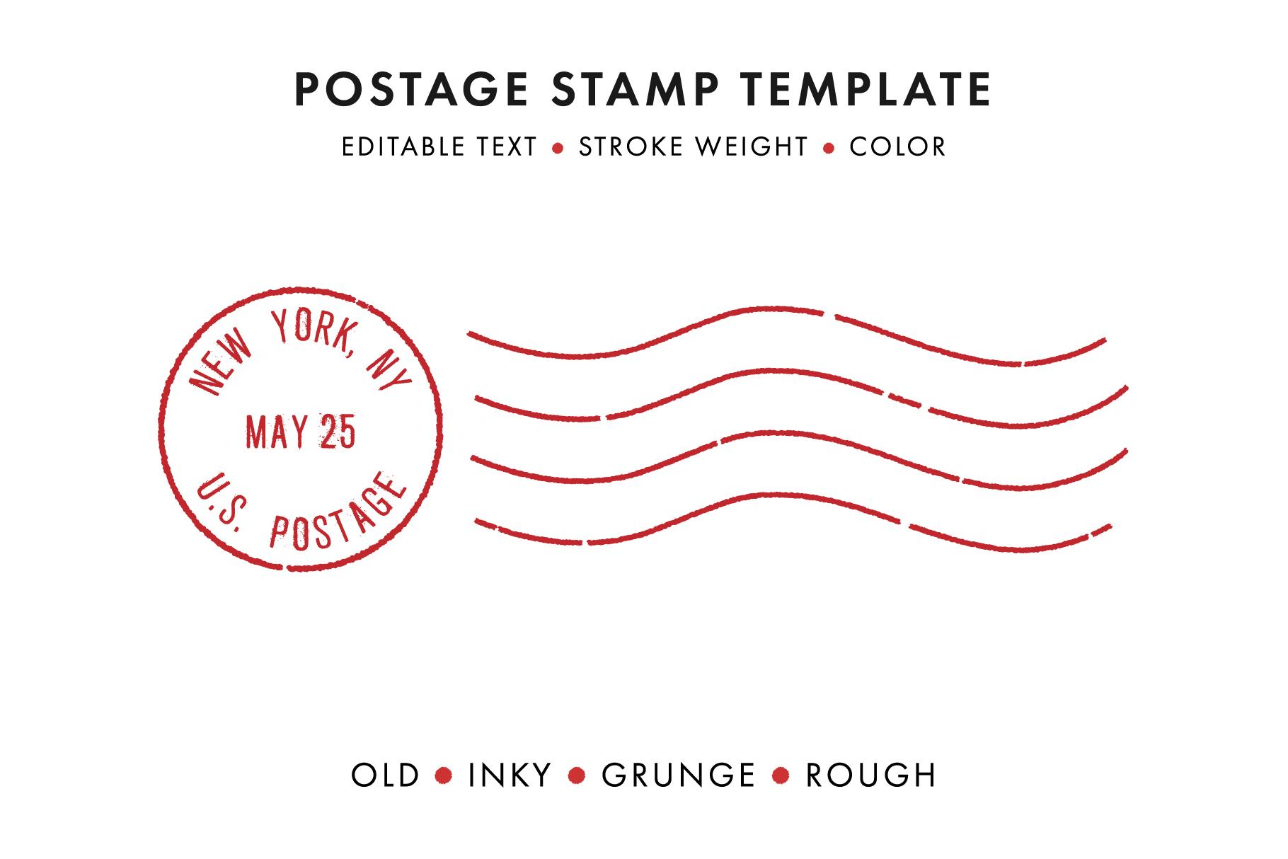 Postage Stamp Template Set Krafti Lab